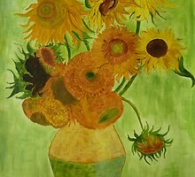 Sunflowers - Vincent Van Gogh - reproduction by aniazik