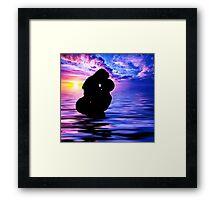 Sunset Kiss Framed Print
