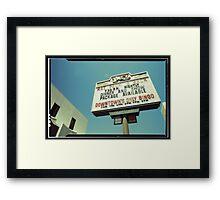 Las Vegas Neon Sign in Kodachrome Framed Print