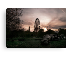 Abandoned fun fair, amusement park in East Berlin Canvas Print
