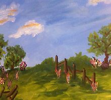 Tree & Flower Landscape by Terri Holland by Terri Holland