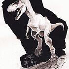 Sprinting Gorgosaurus libratus (Sepia) by Loukash