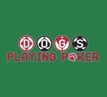 Dogs Playing Poker Wordmark by LicensedThreads