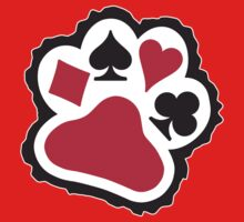 Dogs Playing Poker Paw by LicensedThreads