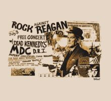 Dead Kennedys 'Rock Against Reagan' Gig Flyer Tee by Jarrod Knight