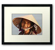 A Vietnamese Lady Framed Print