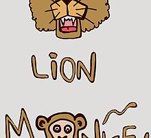 Lion and monkey by Logan81