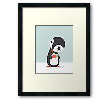 Pingu Loves Icecream Framed Print