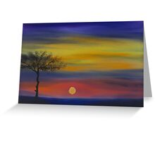 Sunset in oil Greeting Card
