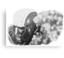 Armored Titan & Eren Canvas Print
