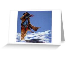 North Wind Blowin' Greeting Card