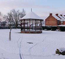 Bandstand in Blake Gardens - winter. by Antony R James