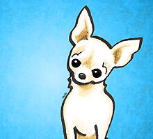 Cream Chihuahua Listen Up by offleashart