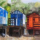 Beach Huts at Wells-next-the-Sea, Norfolk by Woodbine252