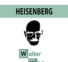 Breaking Bad - Heisenberg White Face [IPhone Case] by Ilcho Trajkovski