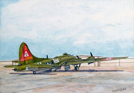 """Thunderbird B17G Boeing """"Flying Fortress"""" by Dave Black"""