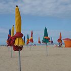 The parasols of Deauville II by Caroline Clarkson