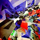 Colorful Abstract Geometric Cluster by perkinsdesigns