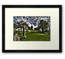 Cloudy Church Framed Print