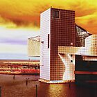 Rock And Roll Hall Of Fame - Golden Sunshine by MSRowe Art and Design