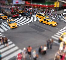 Times Square crossroad tilt shift by Reinvention