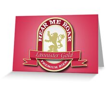 Lannister Brew Greeting Card