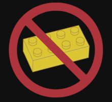"Road Traffic Sign ""NO BRICK"" by Chillee Wilson from Customize My Minifig by ChilleeW"