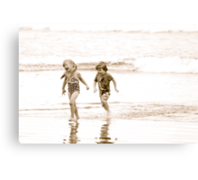 At Play in the Salt Sea Canvas Print