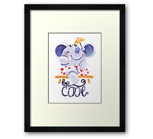 Be Cool! - Rondy is relaxing Framed Print