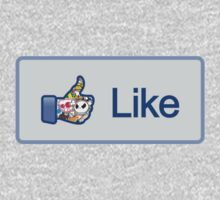 Like Button (Facebook) Sticker Bombing Bomb by vincepro76