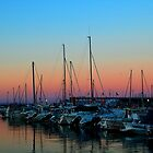 Sunset at the dock. by mezzluc