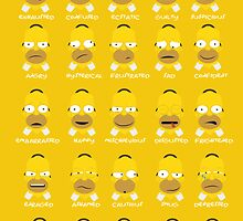 The Many Moods of Homer  by Scott Colson