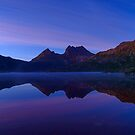 Purple Dawn, Cradle Mountain Tasmania  by bevanimage
