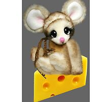 ✿♥‿♥✿LITTLE NIBBLES MOUSE ON CHEESE  IPHONE CASE✿♥‿♥✿  by ╰⊰✿ℒᵒᶹᵉ Bonita✿⊱╮ Lalonde✿⊱╮