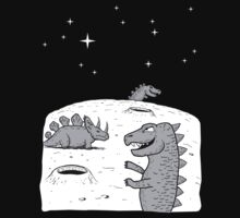 Dinosaurs on the moon! by DiabolickalPLAN