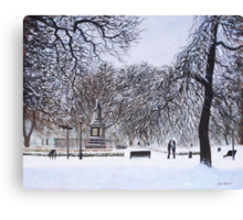 Southampton Watts Park in the Snow Canvas Print