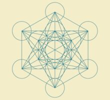 Metatron's Cube - Cyan by Resonance Clothing
