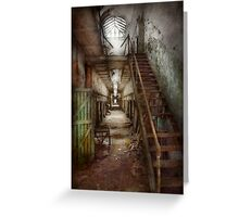 Jail - Eastern State Penitentiary - Down a lonely corridor Greeting Card