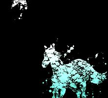 Chino Horse Star digital splatter by justin13art