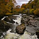 The Afon Llugwy Falls at Capel Curig by Andrew Connor Smith