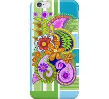 Retro Paisley Pattern and Flowers case iPhone Case/Skin