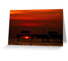 Touching The Sunset Greeting Card