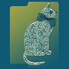 Stylish Cat iPad case by Monartcanadian
