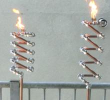 Copper and Chrome Slinki Tiki Torch - FredPereiraStudios.com_Page_05 Sticker