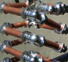 Copper and Chrome Slinki Tiki Torch - FredPereiraStudios.com_Page_19 Sticker