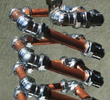 Copper and Chrome Slinki Tiki Torch - FredPereiraStudios.com_Page_24 Sticker