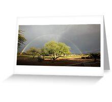 The Rain and The Rainbow Greeting Card