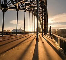 Iron Bridge at Sunset by printscapes