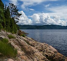 Coastal Beauty of Saguenay River in Quebec, Canada by Georgia Mizuleva