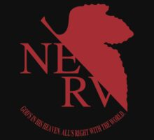 NERV Red Logo by Sam  Wong